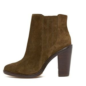 Joie Olive Green Suede Leather Cloee Booties 6